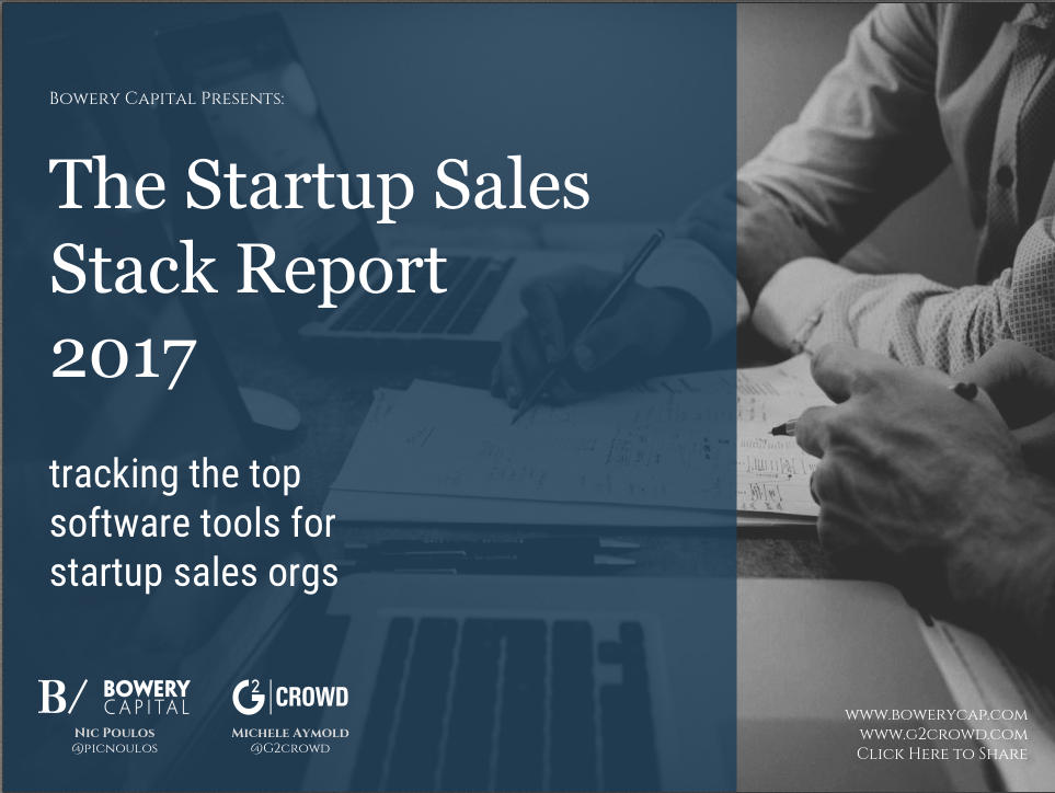 Startup Sales Stack Report